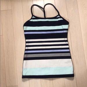 Lululemon classic blue/navy/white stripe tank top